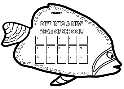 Free Dive Into Learning Fish Sticker Charts