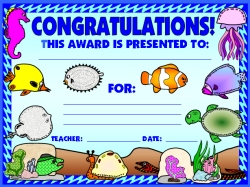 Dive Into Reading Books Student Award Certificate