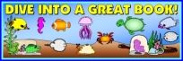 Dive Into Reading Fish Book Report Projects Banner