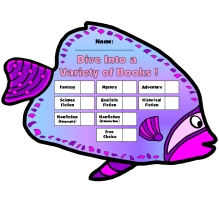 Dive Into Reading Fish Shaped Sticker and Incentive Charts