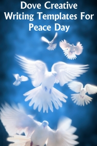 Dove Shaped Creative Writing Templates for Peace Day