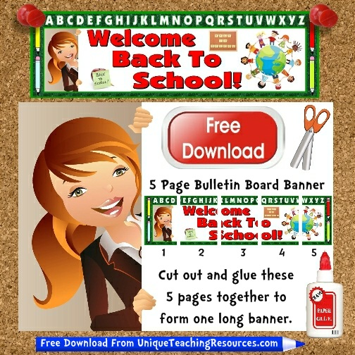 Download Free Welcome Back To School Bulletin Board Display Banner