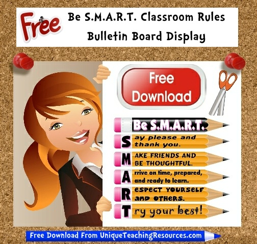 Download Free Smart Classroom Rules Bulletin Board Display