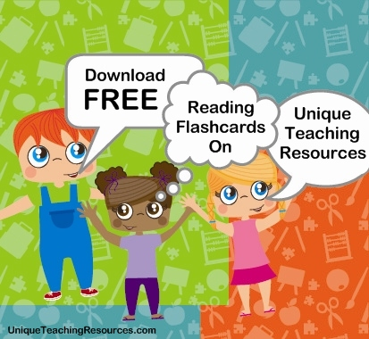 Download free reading, Fry, Dolch, and sight sord flashcards for teachers.
