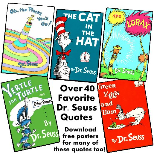 photo about Free Printable Dr Seuss Quotes named 40+ Well known Dr. Seuss Rates: Obtain totally free posters and