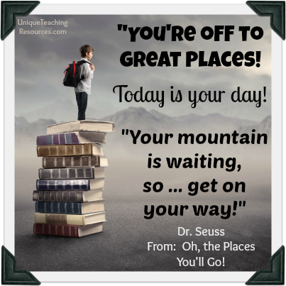 Dr. Seuss Quote - You're off to Great Places!