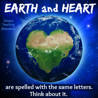 Environmental Quote About Earth and Heart