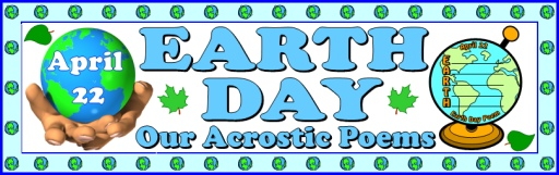 Earth Day Acrostic Poem and Globe Poetry Templates