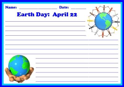 Earth Day Creative Writing Printable Worksheets for Students