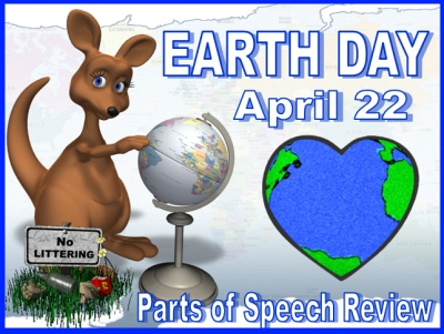Earth Day Powerpoint Presentation Lesson Plans Parts of Speech Review Game