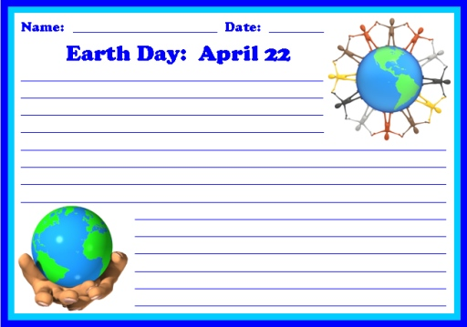 Earth Day Spring Printable Worksheets