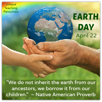 Environmental Quote - We do not inherit the earth from our ancestors, we borrow it from our children.