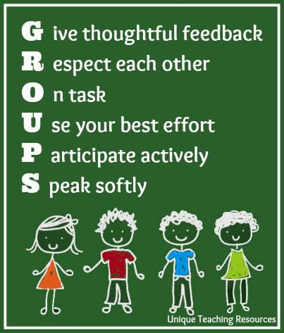Education working as a group acronym poster