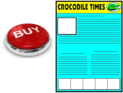 Buy Enormous Crocodile Newspaper Projects Now