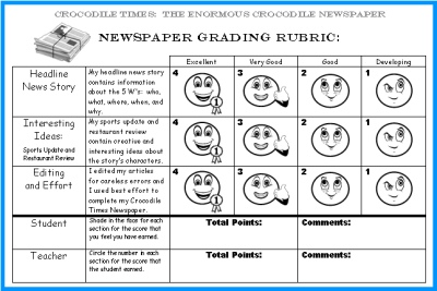 rubrics newspaper articles