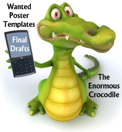 Wanted Poster Book Report Templates and Ideas for The Enormous Crocodile Roald Dahl