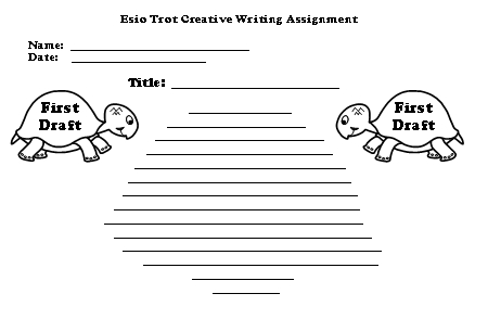 Esio Trot First Draft Creative Writing Worksheet Roald Dahl