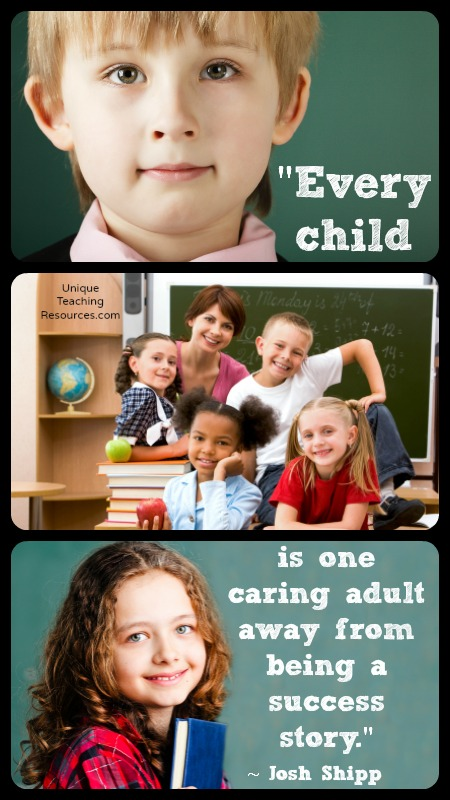 Every child is one caring adult away from being a success story. Josh Shipp