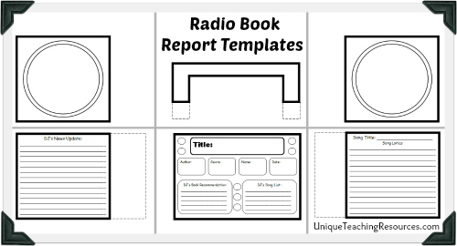 Radio Book Report Project: Templates, Worksheets, Grading Rubric