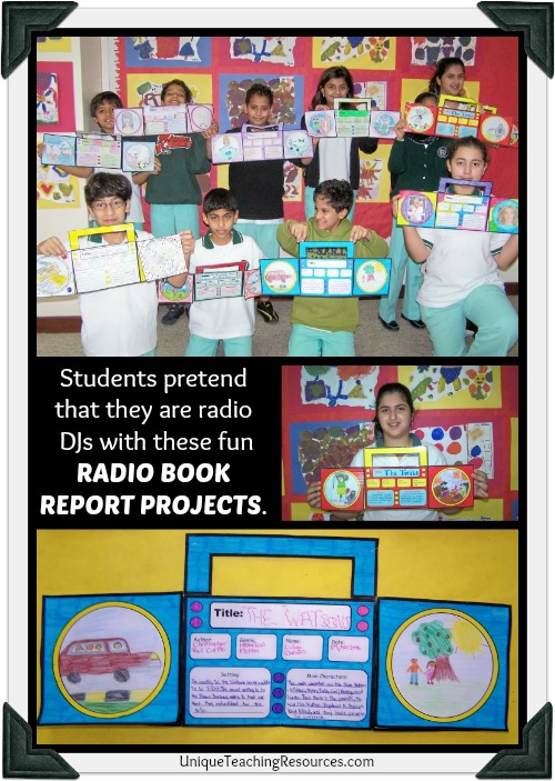 Examples of Fun Radio Book Report Projects and Templates For Elementary School Students