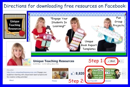Download Directions For Free Teaching Resources on Facebook Page