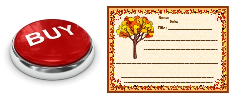 Fall in Love with Writing Printable Worksheets for Autumn Buy Now Button