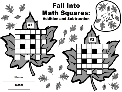 Thanksgiving Math Teaching Resources and Lesson Plans For Fall and ...Math Leaf Worksheets for Fun Fall and Autumn Addition and Subtraction Puzzles