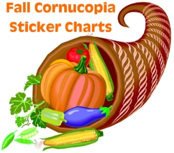 Fall Cornucopia Sticker Charts for Kids