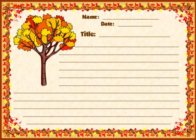 Fall and Autumn Creative Writing Printable Worksheets