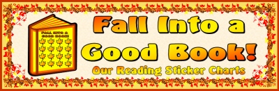 Fall Reading Sticker Chart Bullen Board Display Banner