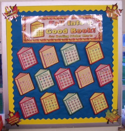 Fall Sticker Chart Bulletin Board Display