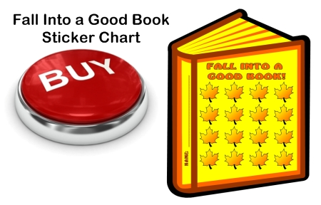 Fall Into a Good Book Reading Sticker Chart Template