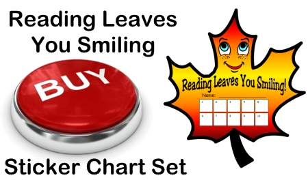 Fall Leaf Template Reading Sticker Chart