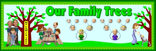 Family Tree Elementary School Bulletin Board Display Banner Ideas