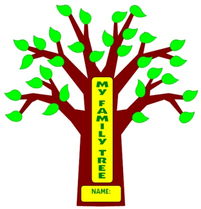 My Family Tree Project Templates for Tree, Branches, and Leaves