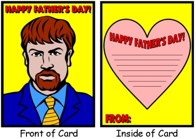 Happy Father's Day Card Elementary School Students