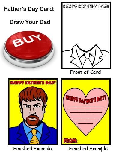 Father's Day Card For Children To Make