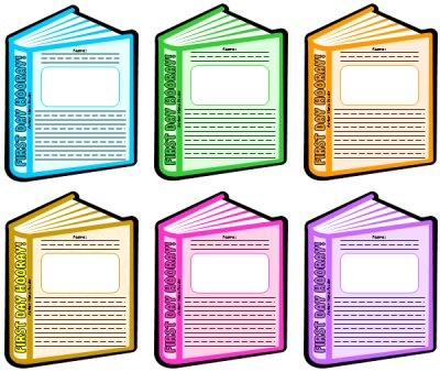 Back to School First Day Hooray Book Writing Templates