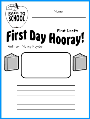 First Day Hooray Nancy Poydar Printable Worksheets