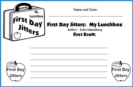 First Day Jitters Lesson Plans and Writing Worksheets
