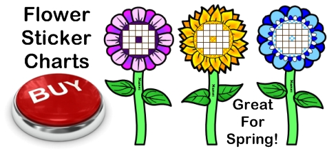 Flower Sticker Chart Templates For Spring