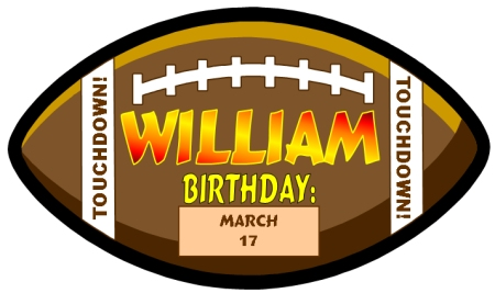 Student Happy Birthday Football Bulletin Board Display Set with a Sports Theme
