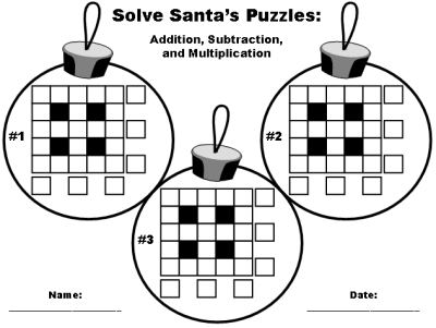 Free Christmas Math Printable Worksheets