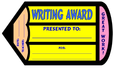 Free Creative Writing Award Certificate Elementary Students