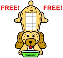 Download this free dog sticker chart