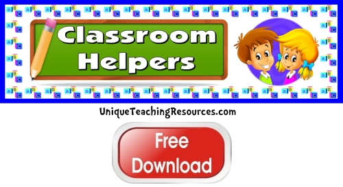 Classroom Helpers Free Printables images