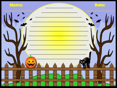 Free Halloween Teaching Resources Poetry Creative Writing Printable Worksheets