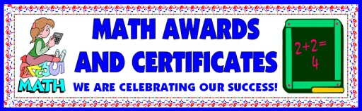 Free Math Awards Certificates for Teachers