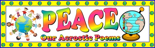 Free Peace Lesson Plans Bulletin Board Display Banner For Teachers