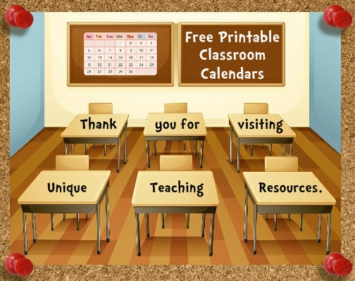 Free Printable Classroom Calendars For Teachers To Download